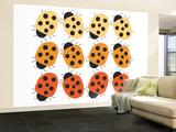 Orange Ladybug Family Wall Mural – Large by  Avalisa