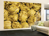 Clusters of Yellow Egg Noodles at Street Side Stall Wall Mural – Large by Antony Giblin