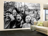Wide Range of Facial Expressions on Children at Puppet Show the Moment the Dragon is Slain Wall Mural – Large by Alfred Eisenstaedt