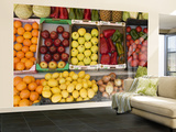 Fruit and Vegetables for Sale at Shop Wall Mural – Large by Karl Blackwell