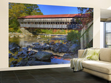 Albany Covered Bridge Over Swift River, White Mountain National Forest, New Hampshire, USA Wall Mural – Large by Adam Jones