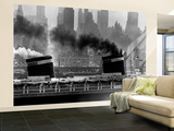 S.S. United States Sailing in New York Harbor Wall Mural – Large by Andreas Feininger