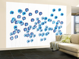 Blue Wildflowers Wall Mural – Large by  Avalisa