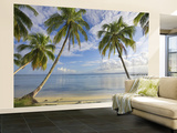 Panama, Bocas Del Toro Province, Carenero Island, Palm Trees and Beach Wall Mural – Large by Jane Sweeney