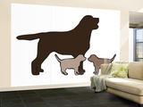 Chocolate Lab Wall Mural – Large by  Avalisa