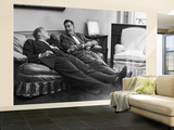 Men Relaxing at Home After Work Wall Mural – Large by Nina Leen