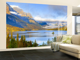 Saint Mary Lake and Wild Goose Island, Glacier National Park, Montana, USA Wall Mural – Large by Jamie & Judy Wild
