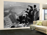University of Pittsburgh Students Cheering from Atop Cathedral of Learning on School's Campus Wall Mural – Large by George Silk