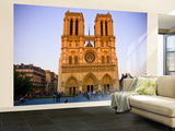 Notre Dame Cathedral at Dusk Wall Mural – Large by Glenn Beanland