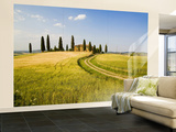 Tuscan Villa Nearing Harvest, Tuscany, Italy Wall Mural – Large by Terry Eggers