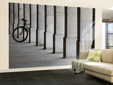 Bicycle Wheel in Arcade Wall Mural – Large by David Borland