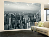 Manhattan Skyline at Night, New York City, USA Wall Mural – Large by Jon Arnold