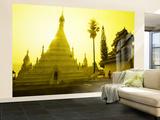 Sunrise at Wat Phra That Doi Khong Mu Vægplakat, stor af Antony Giblin