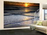 Sunset Reflection on Beach, Cape May, New Jersey, USA Wall Mural – Large by Jay O'brien