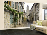 Rue Du Four Bas Leading to Gothic Church St. Maur Wall Mural – Large by Barbara Van Zanten