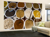 Spices for Sale, Anjuna Market Wall Mural – Large by Greg Elms