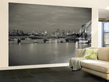 Waterloo Bridge and River Thames, London, England Wall Mural – Large by Jon Arnold