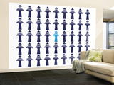 Navy Traffic Controller Wall Mural – Large by  Avalisa