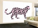 Pink Jaguar Wall Mural – Large by  Avalisa