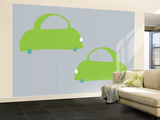 Gray Cabs Wall Mural – Large by  Avalisa