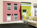 Malay Houses, Wale St., Bokaap Wall Mural – Large by Emily Riddell