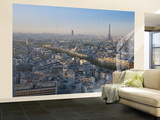 Eiffel Tower and Skyline of Paris, France Wall Mural – Large por Jon Arnold