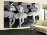 Ballerinas at George Balanchine's American School of Ballet Gathered During Rehearsal Wall Mural – Large by Alfred Eisenstaedt