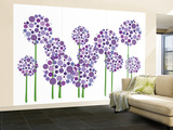 Purple Allium Wall Mural – Large by  Avalisa