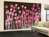 Brown Wild Flowers Wall Mural – Large by  Avalisa