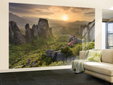 Greece, Thessaly, Meteora, Holy Monastery of Rousanou Wall Mural – Large by Michele Falzone