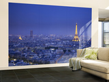 Eiffel Tower and Skyline of Paris, France Wall Mural – Large by Jon Arnold