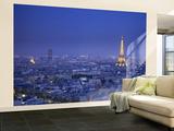 Eiffel Tower and Skyline of Paris, France Wall Mural – Large por Jon Arnold