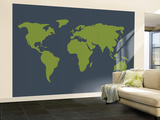Gray World Wall Mural – Large by  Avalisa