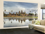 Panoramic View of Temple Ruins, Angkor Wat, Cambodia Wall Mural – Large by  Jones-Shimlock