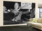 "Harry Truman Jubilantly Displaying Erroneous Chicago Daily Tribune Headline ""Dewey Defeats Truman"" Wall Mural – Large by W. Eugene Smith"