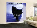 Poncho Sanchez - Conga Blue Wall Mural – Large