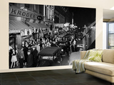 View of Jefferson Street on Saturday Night Wall Mural – Large by Bernard Hoffman