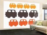 Orange Cars Wall Mural – Large by  Avalisa