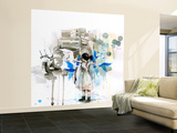 Ghetto Princess Wall Mural – Large by Lora Zombie
