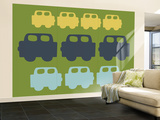 Green Cars Wall Mural – Large by  Avalisa