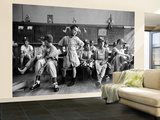 Boys Club Little League Baseball Players Putting on Their Uniforms Prior to Playing Game Wall Mural – Large by Yale Joel