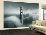 Golden Gate Bridge with Mist and Fog, San Francisco, California, USA Reproduction murale (géante) par Steve Vidler