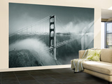 Golden Gate Bridge with Mist and Fog, San Francisco, California, USA Wall Mural – Large by Steve Vidler