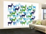 Deer Pattern Wall Mural – Large by  Avalisa