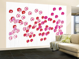 Pink Wild Flowers Wall Mural – Large by  Avalisa