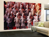 Souvenir Stall at Entrance to Grounds of Army of Terracotta Warriors (Bingmayong) Wall Mural – Large by Krzysztof Dydynski