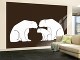 Brown Polar Bears Wall Mural – Large by  Avalisa