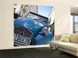 Citroen 2Cv Car in Paris, France Wall Mural – Large by Jon Arnold