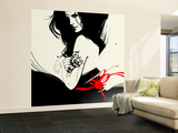 The Gift Wall Mural  Large by Manuel Rebollo