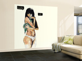 Breathe Out Wall Mural – Large by Charmaine Olivia